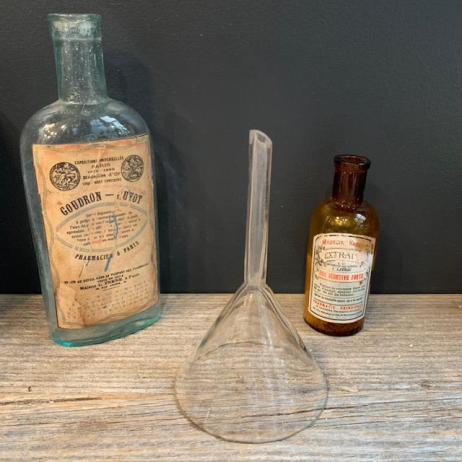 Old glass lab funnel