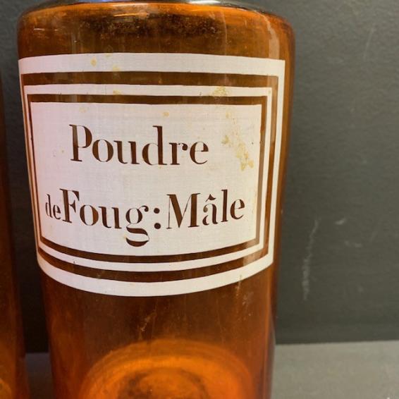 Flacon de pharmacie: Poudre de Fougère Mâle