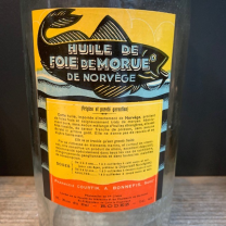 Old bottle of norvegian cod liver oil