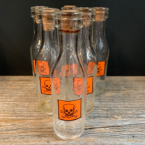 Small glass jar: Skull label