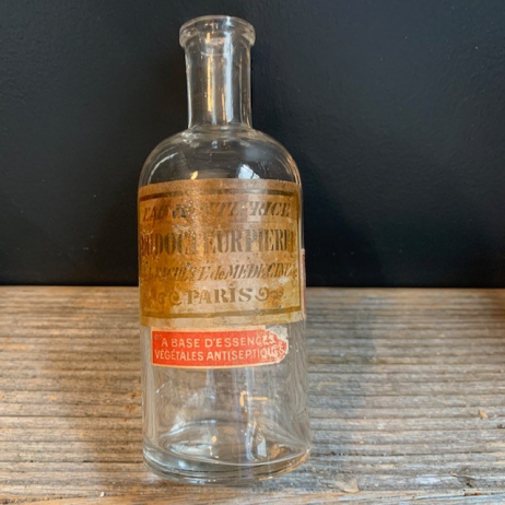 Old pharmacy bottle: Dr. Pierre's toothpaste water