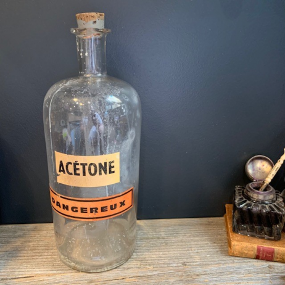 Old pharmacy jar of