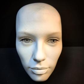 White woman face model