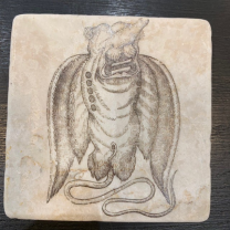Marble coaster, paperweight: Fantastic animals
