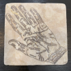 Marble paperweight, coaster: palmistry