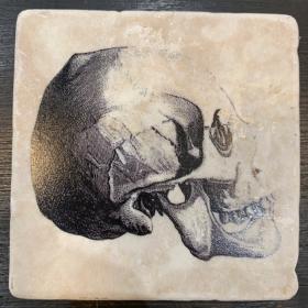 Dessous de Verre en Marbre: crânes