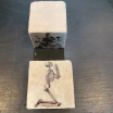 Marble paperweight, coaster: Skull