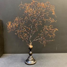 Gorgone arbre sur socle en bois tourné N°1