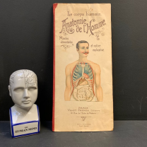 """Removable board """"Anatomy of Man """" by Vigot Frères éditeurs"""