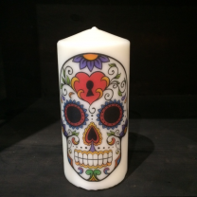 Calavera 4 candle