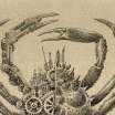 Brachuyre Theorax (Crab): Steampunk print realized by Steeven Salvat