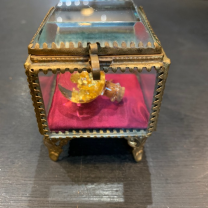 Square reliquary box - 19th century