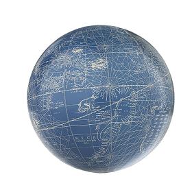 Globe terrestre Mercator Bleu - Ivoire 14cm GL216