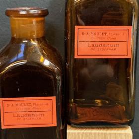 Fiole de Laudanum - Teinture d'Opium