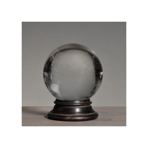 Socle pour boule de cristal en noir