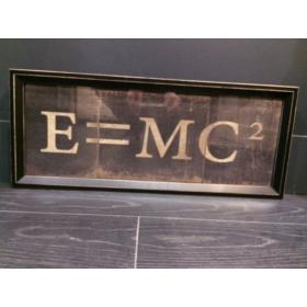 Tableau Bois de la formule de la relativité