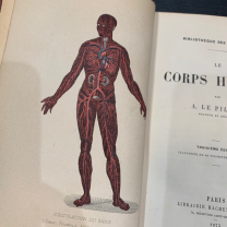 "XIXth old book: ""Le Corps Humain"" 1873"