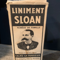 Sloan's Liniment: Old pharmacy bottle