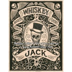 Affiche gothique victorienne - Madame Talbot: Whiskey Jack