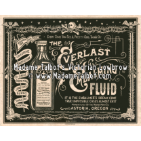 Affiche gothique Madame Talbot: Everlast Necromort Embalming Fluid
