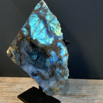 Stone of Madagascar Labradorite on stand (Ref B)