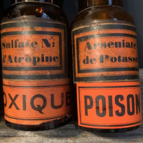 Poison: Pharmacy bottles