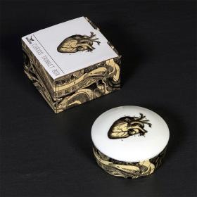 CURIOS - Boîte ronde en porcelaine - Coeur