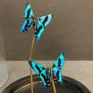 Little butterfly glass dome: Ancyluris Aulestes