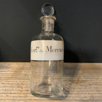 Bi-Chlorure de Mercure: Old bottle with emery cap