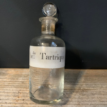 Acide Tartrique: Old bottle with emery cap