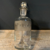 Acide chlorhydrique: Old bottle with emery cap