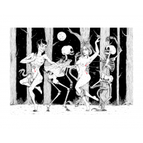 """Danse Macabre"": print realized by La Satanée"