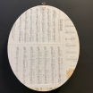 Real framed and calligraphed Herbarium (oval)