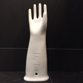Hand of enamelled porcelain man