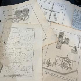 Gravure ancienne de Sciences - 18ème siècle