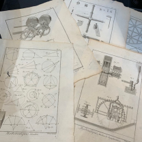 Science Engraving - 18th Century - Mathematics Astronomy