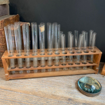 Old wooden display for test tube