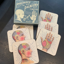 Phrenology - Chiromancy coasters (box of 6)