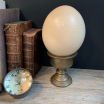 Indian cup or chalice - ostrich or emu egg holder