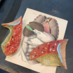 Left Lung - Anatomical part in painted rubber