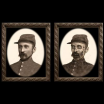 Haunted frame: Uncle Silas (black rectangle)