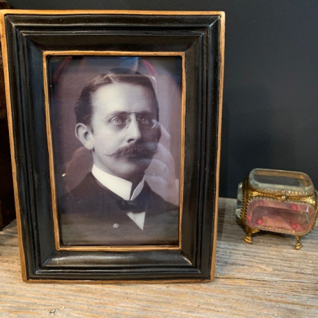 Haunted frame: Uncle Percy (black rectangle)