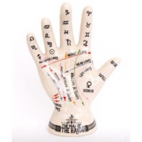 Porcelain chiromancia hand