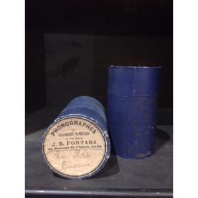 Boîte cylindre de phonographe bleu
