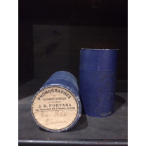Phonograph blue cylinder