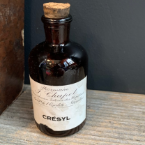 Crésyl: Old pharmacy bottle with cork