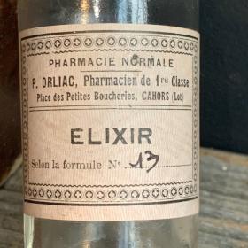 Elixir No.13: Old pharmacy bottle with emery cap
