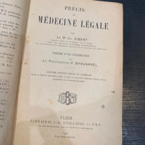 Précis de Médecine légale - Dr VIBERT - 1903 (Forensic pathology brief)