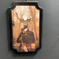 Anthropomorphic Medallion by John Byron - Victorian deer