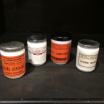 Jar in opaline with old label